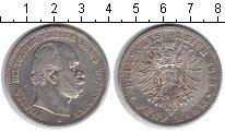 Изображение Монеты Германия 5 марок 1876 Серебро VF Вильгельм