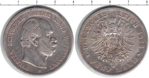 Картинка Монеты Германия 5 марок Серебро 1876
