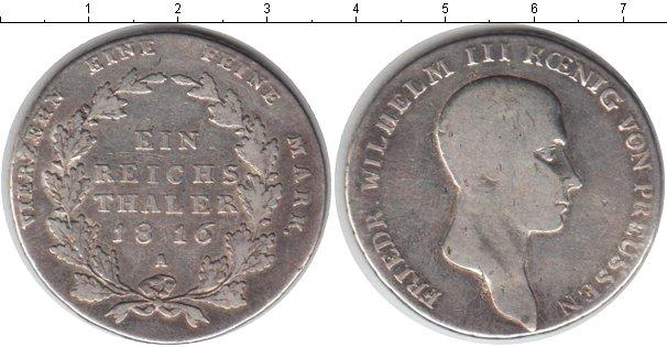 Картинка Монеты Пруссия 1 талер Серебро 1816