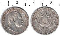 Изображение Монеты Пруссия 1 талер 1866 Серебро VF Вильгельм
