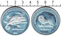 Изображение Монеты Конго 10 франков 2003 Серебро Proof- Защита животного мир