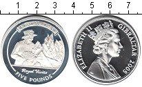 Изображение Монеты Гибралтар 5 фунтов 2005 Серебро Proof Королевский год