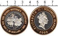 Изображение Монеты Соломоновы острова 10 долларов 2000 Биметалл Proof