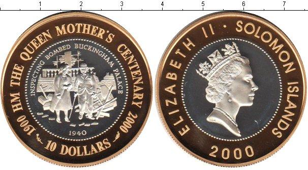 Картинка Монеты Соломоновы острова 10 долларов Биметалл 2000