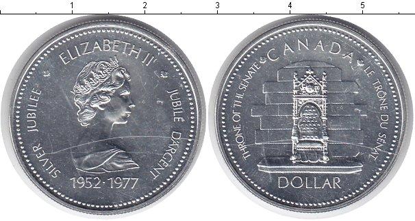 Картинка Монеты Канада 1 доллар Серебро 1977