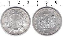 Изображение Мелочь Сингапур 10 долларов 1977 Серебро UNC- 10 лет ASEAN
