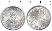 Изображение Монеты Сан-Марино 1.000 лир 1980 Серебро UNC- Абат Бенедикт