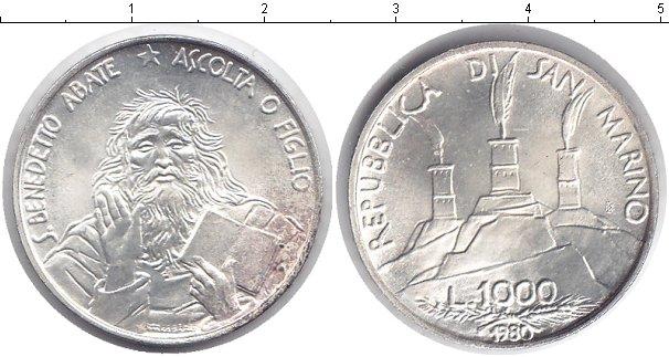 Картинка Монеты Сан-Марино 1.000 лир Серебро 1980