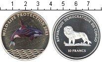 """Изображение Мелочь Конго 10 франков 2003 Серебро Proof <div><font face=""""ari"""