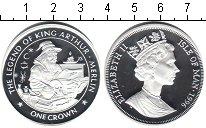 Изображение Монеты Остров Мэн 1 крона 1996 Посеребрение Proof Легенды короля Артур