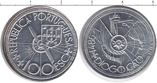 Картинка Монеты Португалия 100 эскудо Серебро 1987