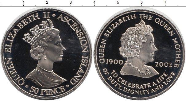 Картинка Мелочь Аскенсион 50 пенсов Медно-никель 2002