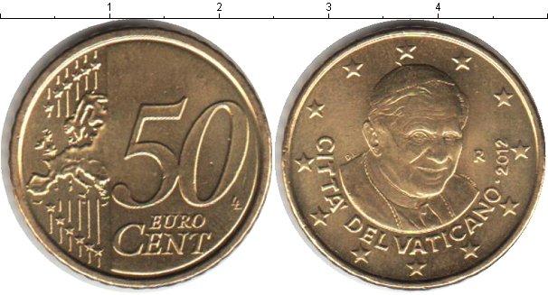 Картинка Монеты Ватикан 50 евроцентов Медь 2012
