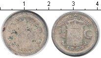 Изображение Монеты Нидерландская Индия 1/4 гульдена 1912 Серебро