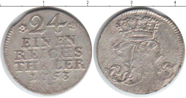 Картинка Монеты Пруссия 1/24 талера Серебро 1753