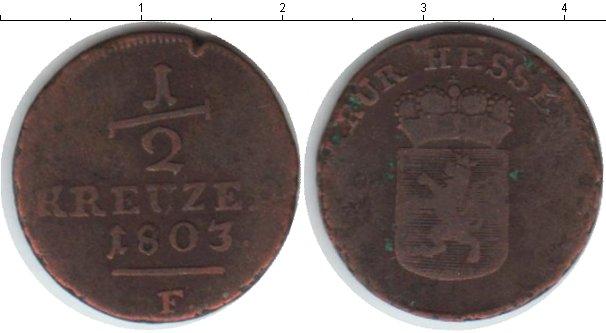 Картинка Монеты Гессен-Кассель 1/2 крейцера Медь 1803