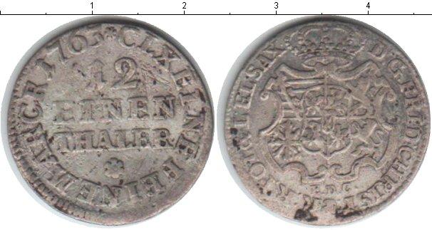 Картинка Монеты Саксония 1/12 талера Серебро 1763
