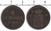 Изображение Монеты Германия Саксе-Мейнинген 2 пфеннига 1841 Медь
