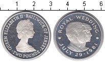 Изображение Монеты Остров Джерси 2 фунта 1981 Серебро Proof- Королевская свадьба