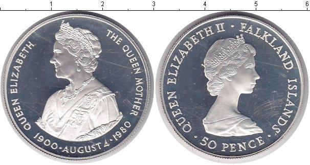 Картинка Монеты Фолклендские острова 50 пенсов Серебро 1980