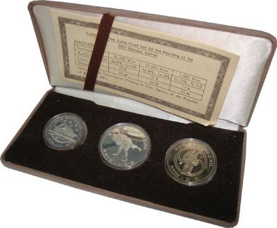 Изображение Подарочные монеты Корея 24 Олимпийские игры 1983  Proof- Подарочный набор пос