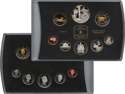 Изображение Подарочные монеты Канада 50- летний юбилей Елизаветы 2002  Proof Подарочный набор пос