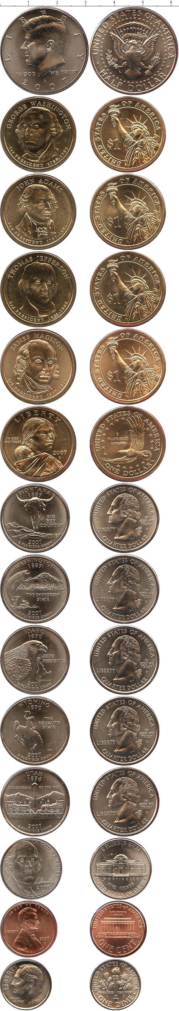 Картинка Подарочные монеты США Выпуск 2007 года  2007