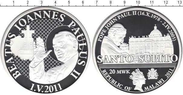Картинка Монеты Малави 20 квач Посеребрение 2011