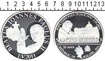 Изображение Монеты Малави 20 квач 2011 Посеребрение Proof Понтифик Иоанн Павел