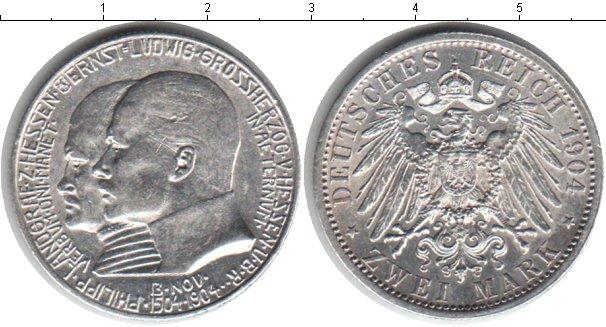 Картинка Монеты Гессен-Дармштадт 2 марки Серебро 1904