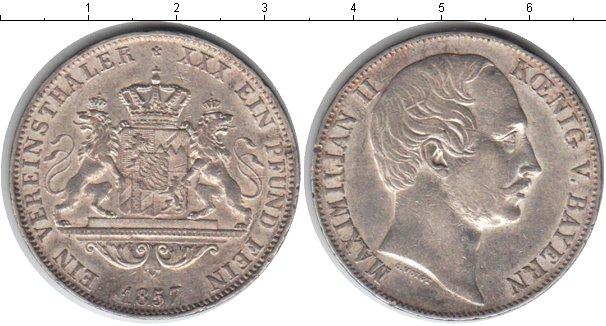 Картинка Монеты Бавария 1 талер Серебро 1857