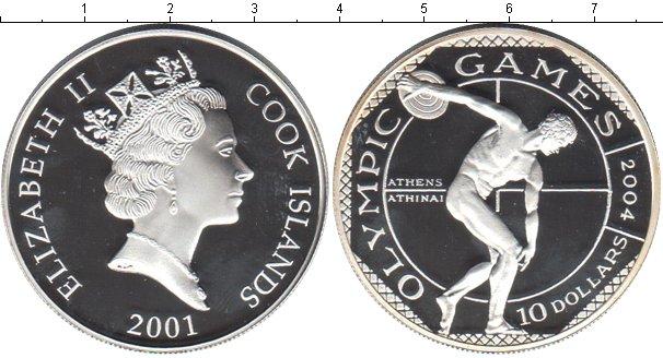 Картинка Монеты Острова Кука 10 долларов Серебро 2001
