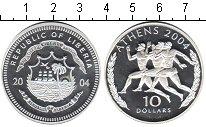 Изображение Монеты Либерия 10 долларов 2004 Серебро Proof- Олимпиада в Афинах 2