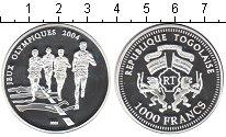 Изображение Монеты Того 1.000 франков 2003 Серебро Proof Олимпиада 2004 в Афи