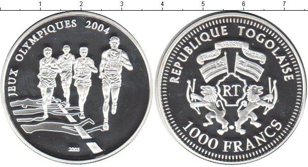 Картинка Монеты Того 1.000 франков Серебро 2003