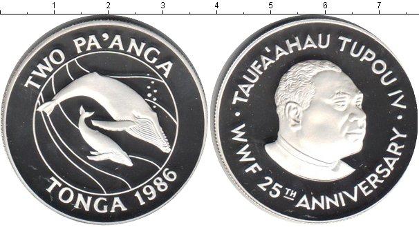 Картинка Монеты Тонга 2 паанги Серебро 1986