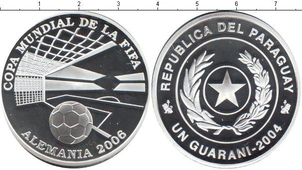 Картинка Монеты Парагвай 1 гуарани Серебро 2004