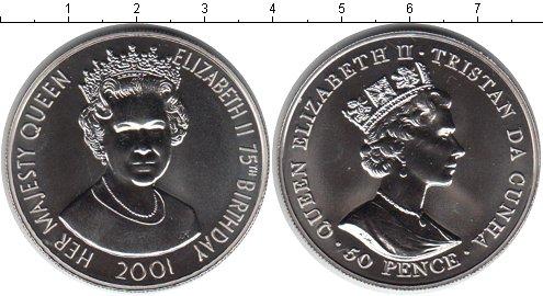 Картинка Мелочь Тристан-да-Кунья 50 пенсов Медно-никель 2001