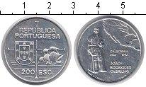 Изображение Монеты Португалия 200 эскудо 1992 Серебро UNC- 450 лет открытия Кал