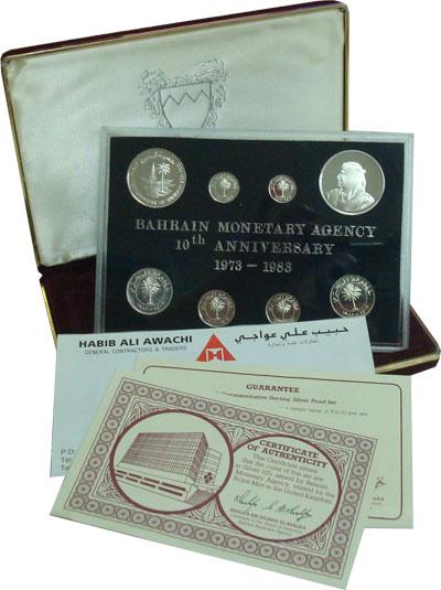 Изображение Подарочные монеты Бахрейн Бахрейн 1983- пруф-сет 1983 Серебро Proof Подарочный набор мон