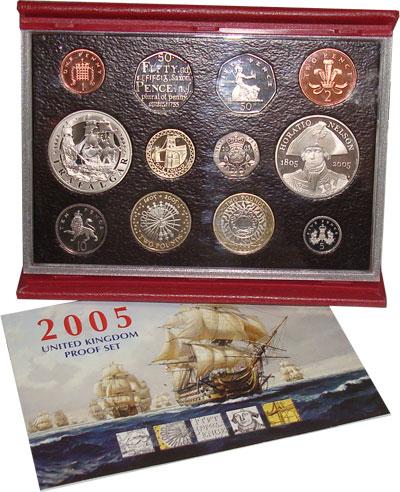 Изображение Подарочные наборы Великобритания Выпуск монет 2005 2005  Proof <BR>В ПЛАСТИКОВОМ БУ