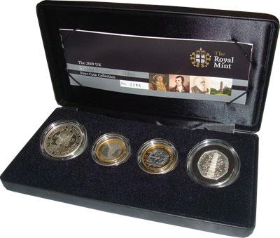 Изображение Подарочные монеты Великобритания Выпуск монет 2009 2009  Proof Подарочный набор мон