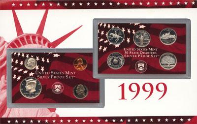 Изображение Подарочные монеты США США 1999 1999  Proof `Подарочный набор со