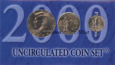 Изображение Подарочные монеты США США 2000 2000  UNC Подарочный набор мон