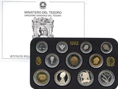 Изображение Подарочные монеты Италия Италия 1992 1992  Proof Подарочный набор мон