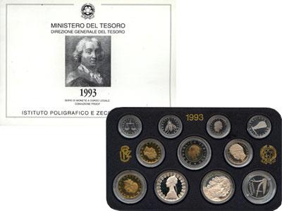 Изображение Подарочные монеты Италия Италия 1993 1993  Proof Подарочный набор мон