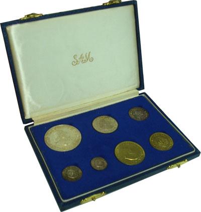 Изображение Подарочные монеты ЮАР Выпуск 1964 1964  UNC- Подарочный набор мон