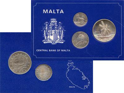 Изображение Подарочные монеты Мальта Мальта 1977 1977 Серебро UNC- Подарочный набор мон