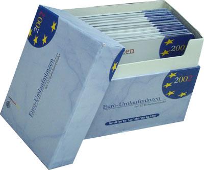 Изображение Подарочные монеты Евросоюз Евросоюз 2002 2002  AUNC Подарочный набор мон