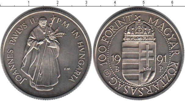 Картинка Монеты Венгрия 100 форинтов Медно-никель 1991